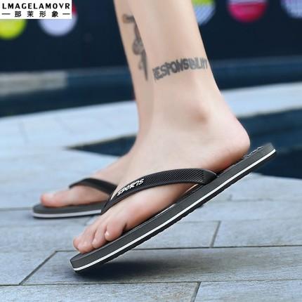 Giày GuangDong  Đầu in dép Quảng Đông dép nam thương hiệu xu hướng châu Âu và châu Mỹ Zhanjiang dép