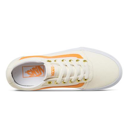 Vans  giày vải [Ngày lễ tình nhân] Giày thể thao giải trí Vans giày vải Giày nữ màu trắng chính thức