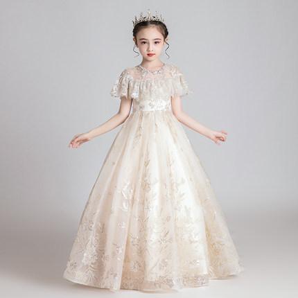 Trang phục dạ hôi trẻ em Váy bé gái hoa công chúa váy ponchos trẻ em váy cưới chủ nhà váy dạ hội biể
