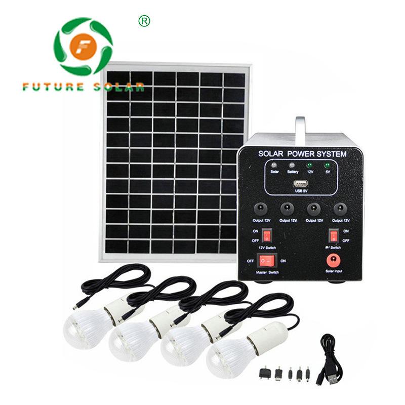 FUJIE Thiết bị chiếu sáng Hệ thống năng lượng mặt trời 15W7AH Máy phát điện du lịch ngoài trời Chợ đ