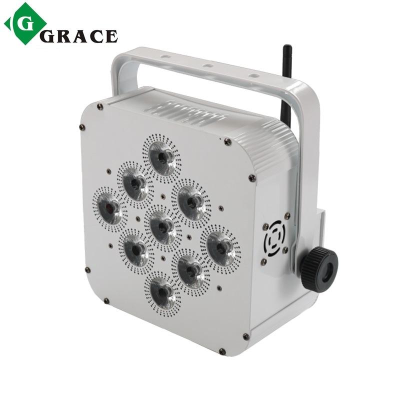GERUIZE Thiết bị chiếu sáng Nhà máy Giai đoạn trực tiếp 9 18w Pin không dây LED Par Light Độ sáng ca