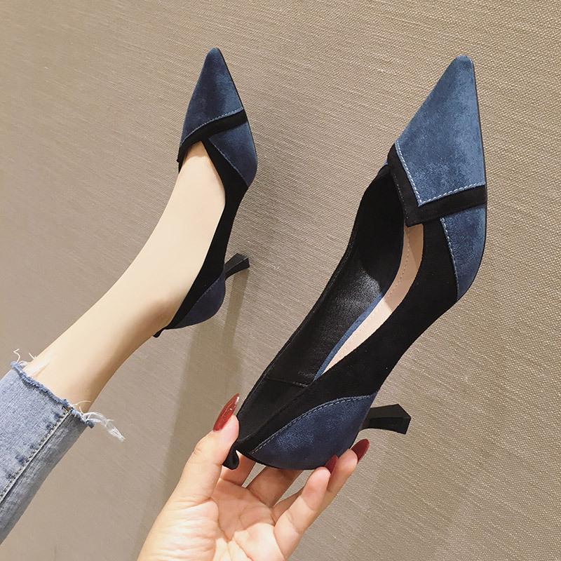 SUFEIFEI Giày GuangDong Mùa xuân 2020 Giày nữ mới Giày cao gót kiểu nổ Thời trang Giày cao gót đế nh
