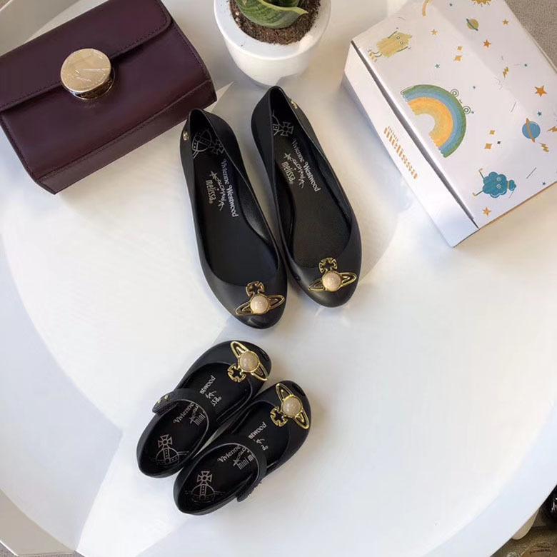 Giày da một lớp Mùa hè 2019 mới Giày nữ Saturn Giày dép trẻ em dành cho phụ huynh Giày dép trẻ em đế