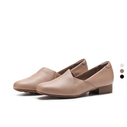 Giày da một lớp  Giày nữ Clarks xuân 2020 tiếp tục Juliet Palm retro giày đơn thanh lịch gót vuông n