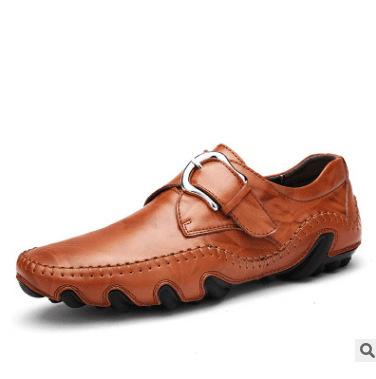 thị trường giày nam Mùa xuân 2018 mới giày da bạch tuộc giày nam bình thường Giày thủ công Anh giày