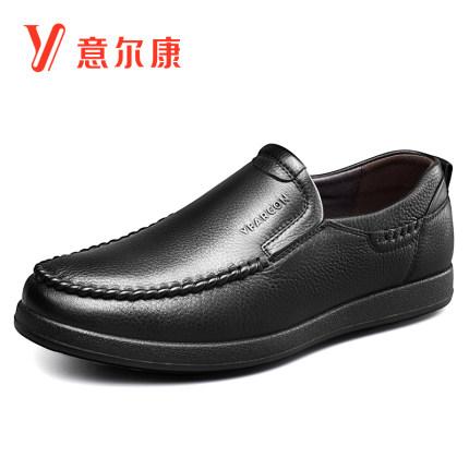 YEARCON Giày da Giày da thông thường Yier Khang giày nam cao cổ mềm đế mềm bề mặt trung niên và giày