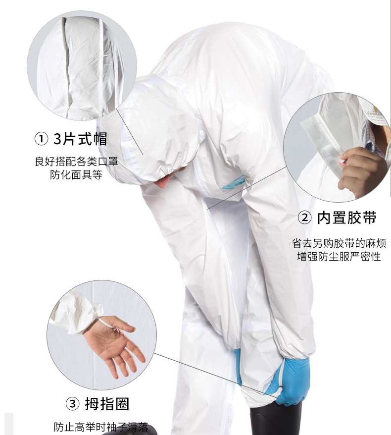 Trang phục bảo hộ Protective clothing integrated whole body chemical experiment acid and alkali proo