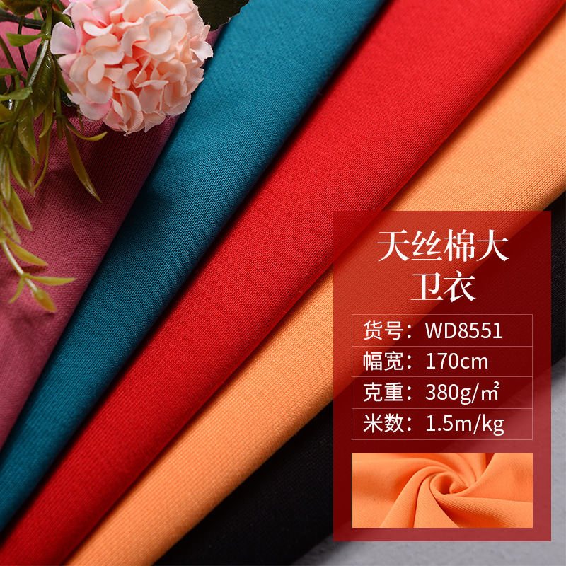 Weican Vải French Terry (Vấy cá) Vải Weican Vải mùa thu và mùa đông Vải thời trang giản dị Vải Terry