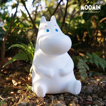 Moomin  Đồ chơi phát sáng  chính thức Momo đêm ánh sáng silicon cảm ứng pat ánh sáng sạc năng lượng