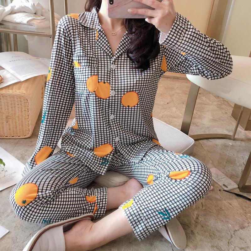 Đồ ngủ của phụ nữ phục vụ tại nhà đơn giản và thoải mái áo nịt len xuyên biên giới Bộ đồ ngủ của phụ