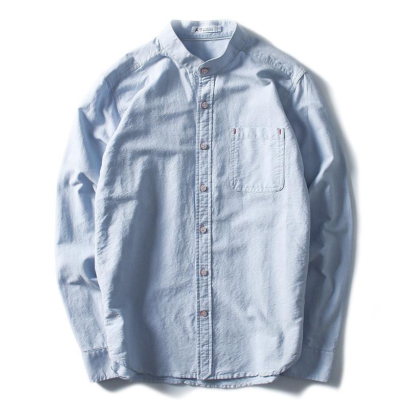K.twohollis Áo sơ mi kích thước lớn thanh niên nam áo sơ mi trắng cotton nam dài tay oxford áo sơ mi