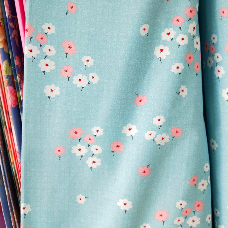 RONGYUAN Vải Chiffon & Printing Nông thôn Hoa nhỏ Rongyuan Kẻ sọc In Cotton Vải Trang chủ Dệt Chăn T