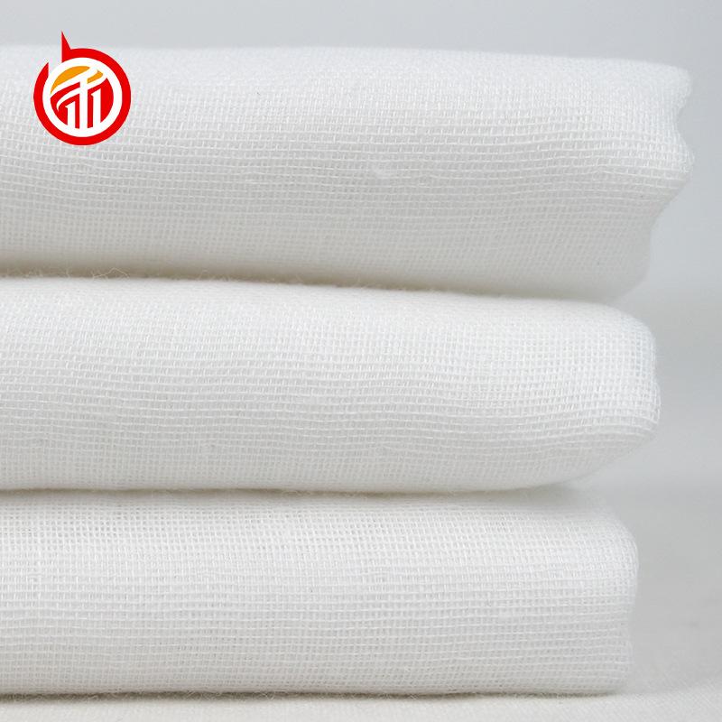 BANHE Vải Cotton mộc 40 miếng vải cotton nguyên chất, vải trắng xám, gạc hai lớp bông, mầm trắng, mặ