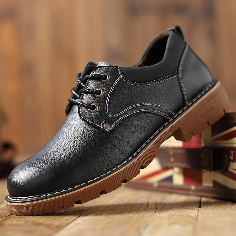 NANXIANG Giày da Martin ủng 2020 thủy triều mới lên giày da đi bộ giày nam dụng cụ giản dị giày nam