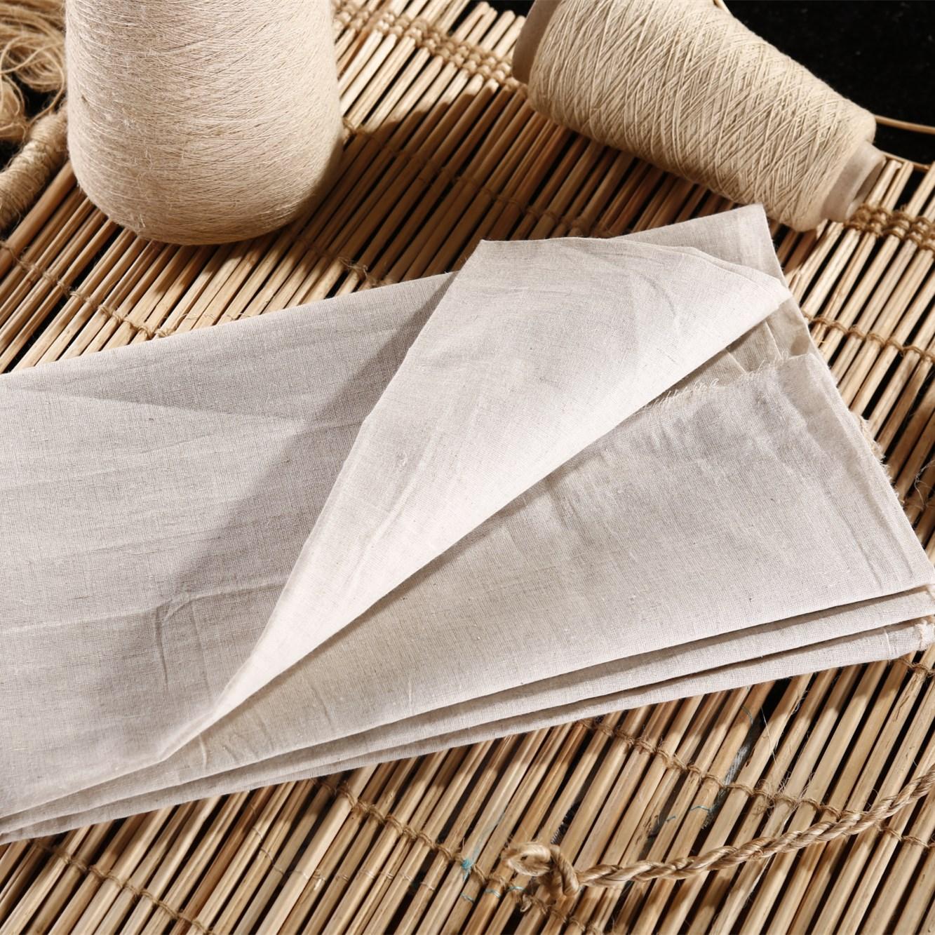 LVZHOU Vải mộc pha Shanxi Oasis vải lanh màu xám nhà sản xuất vải cung cấp vải lanh 20X20 vải pha tr