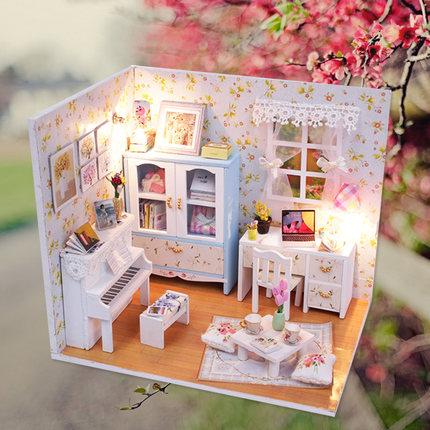 Đồ chơi sáng tạo  tự làm túp lều thủ công lắp ráp biệt thự mô hình biệt thự đồ chơi sáng tạo giáng s