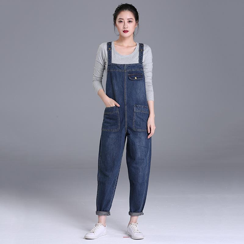 quần Jean 2020 mùa xuân và mùa thu mới 200 kg chất béo mm quần jeans của phụ nữ Hàn Quốc quần rộng k