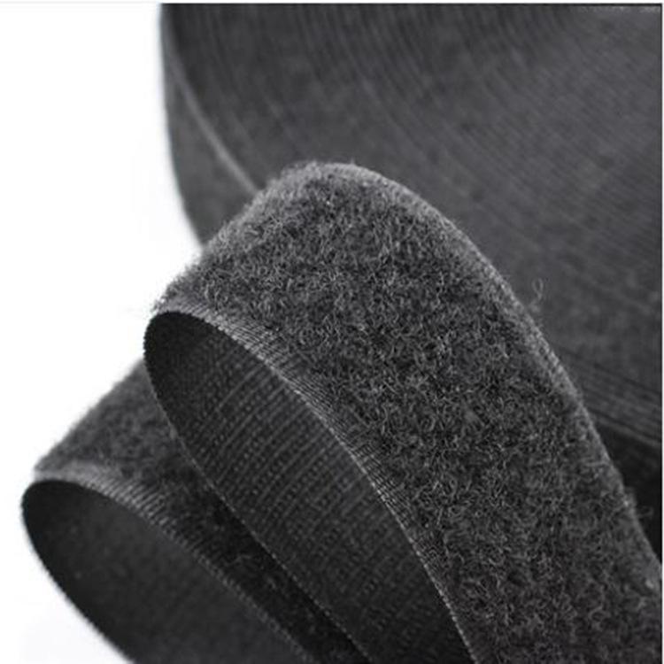 Khoá dán Nhà máy trực tiếp pha trộn Velcro Polyester đen và trắng