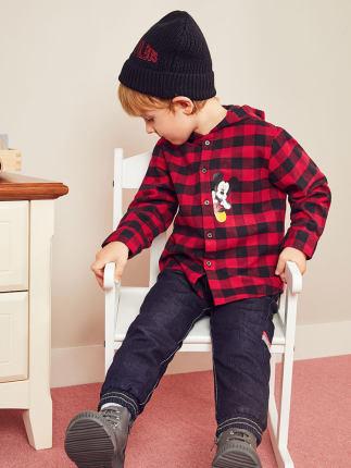 minipeace Áo Sơ-mi trẻ em Hòa bình Trẻ em Quần áo Con trai Áo trùm đầu Áo bông dày Áo khoác lót mùa