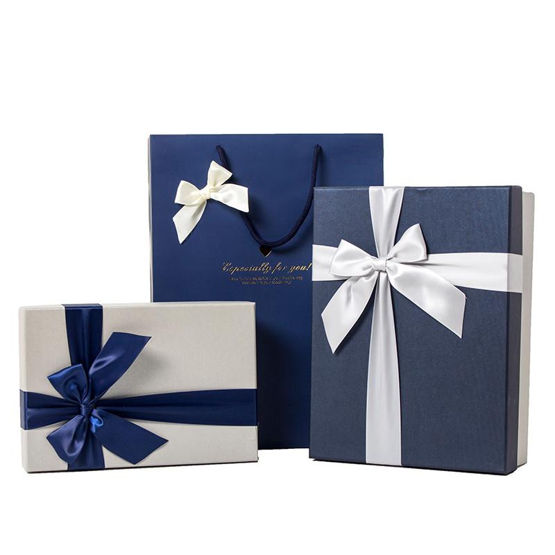 LVSHI NLSX bao bì Hình chữ nhật hộp quà tặng ngày lễ hộp quà tặng bao bì sinh nhật khăn lớn hộp tùy