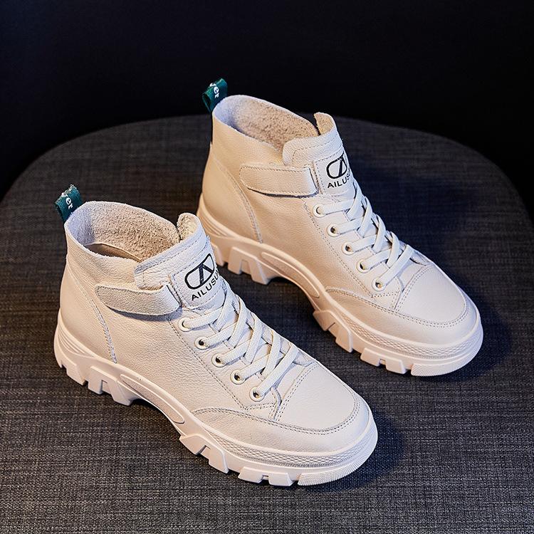 HUANLEDENG giày bánh mì / giày Platform Giày cao gót nữ cao cấp 2020 mùa xuân đế dày mới tăng thêm g