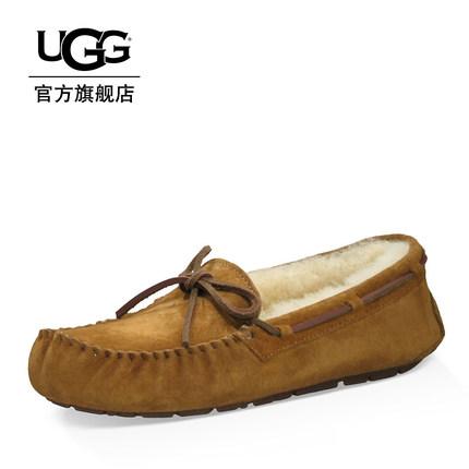 UGG Giày mọi Gommino UGG2019 mùa thu và mùa đông dép lông của phụ nữ ấm áp giày đế xuồng đế xuồng 56