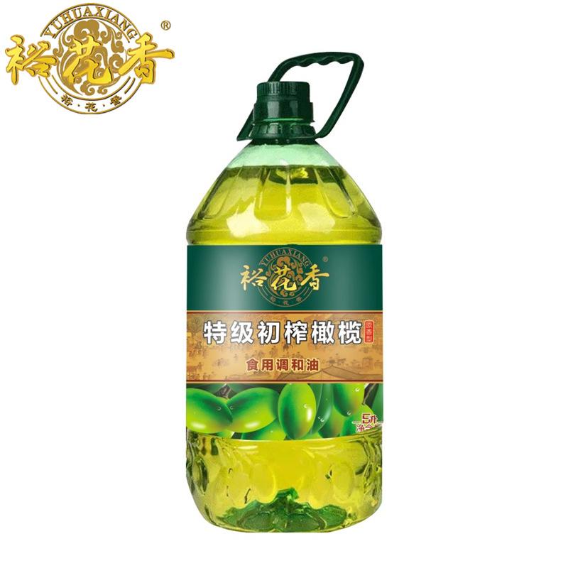Yuhuaxiang NLSX dầu thực vật Extra Virgin Olive Oil 5L Cây ăn được pha trộn với dầu hạt cải không bi