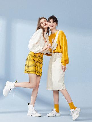PEACEBIRD Sweater (Áo nỉ chui đầu) Áo len cổ lọ cộng với áo len nhung 2019 nữ mới phiên bản Hàn Quố