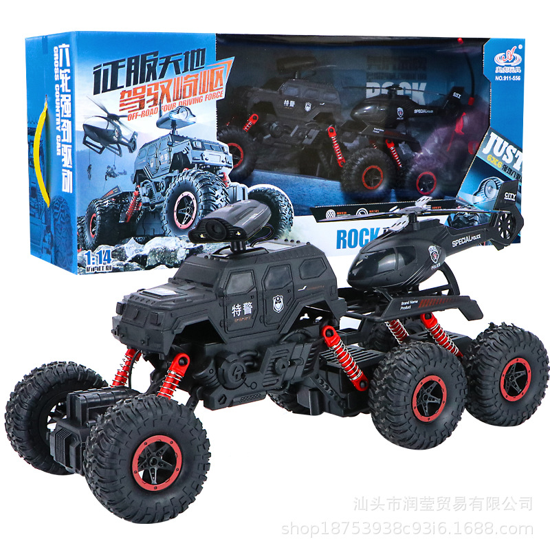 Aoho Toys Xe điều khiển từ xa Manufacturer new six-wheel climbing car toy 1:14 four-way special poli