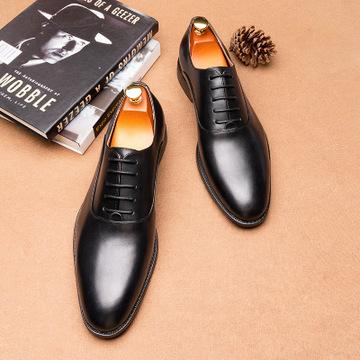 CGDL Giày da Một thế hệ giày da nam xuyên biên giới châu Âu và châu Mỹ, lớp da đầu tiên, giày nam cỡ