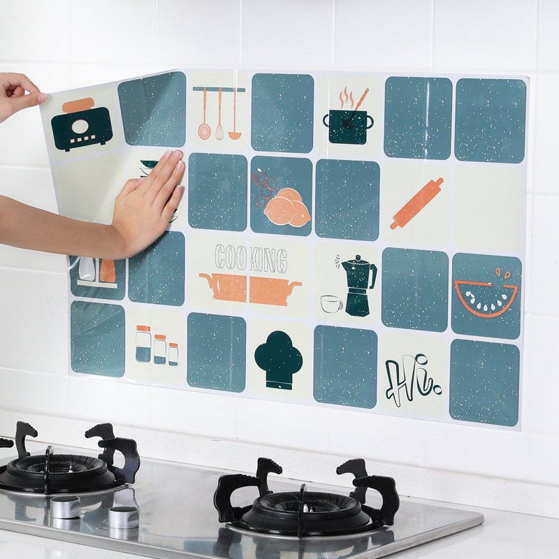 GANENJIE Decal dán tường J3 tự dính chống dính nhiệt độ cao chống thấm nhà bếp bếp dán tường dán tườ