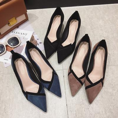 GGXYWEN Giày da một lớp Mùa xuân 2020 Giày nữ mới Giày cao gót kiểu nổ Thời trang Giày cao gót đế nh