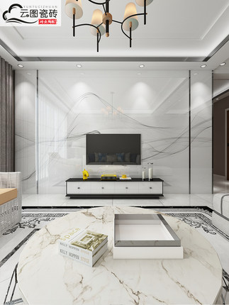 Microcrystalline Gạch men sứ  Đám mây hình ảnh Microcrystalline TV nền tường phòng khách mới phong c