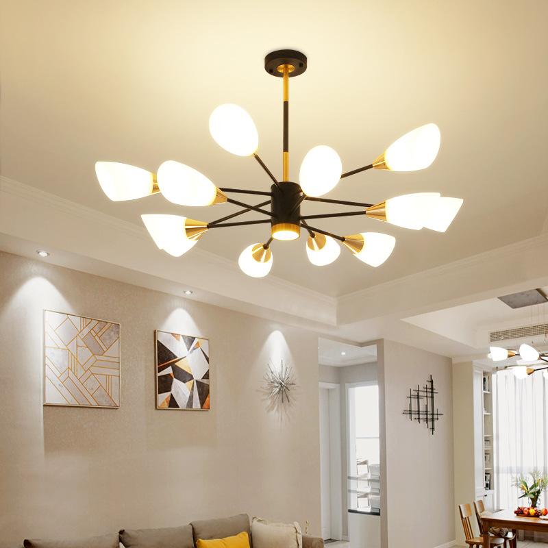AIJIAYI Đèn treo trần Đèn chùm phòng khách Bắc Âu hiện đại phòng ăn ánh sáng đèn chùm sang trọng sán