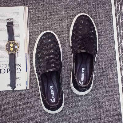 Giày da Giày nam châu Âu mới Giày đế xuồng da đế xuồng cho nam Giày đạp thông thường Phiên bản Hàn Q