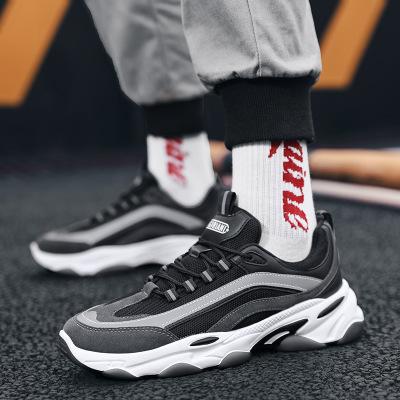 Giày Sneaker / Giày trượt ván Giày nam đế xuồng 2020 Douyin net giày đỏ ván gấu trúc dày đáy giày tă