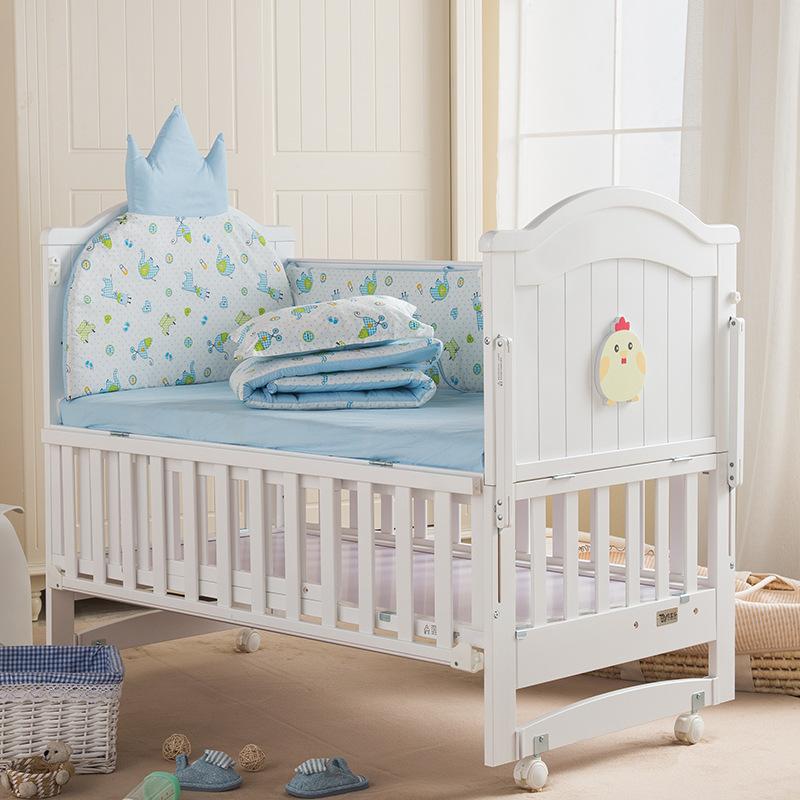 MENGXIAOHAI Nôi trẻ sơ sinh Dễ thương trẻ em cũi trẻ em giường bb giường nôi đa năng trẻ sơ sinh khâ