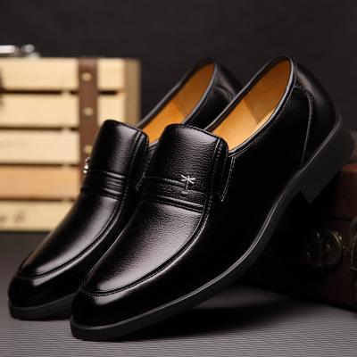 QINGTING Giày da Giày da nam trung niên và cao tuổi vào mùa thu đông