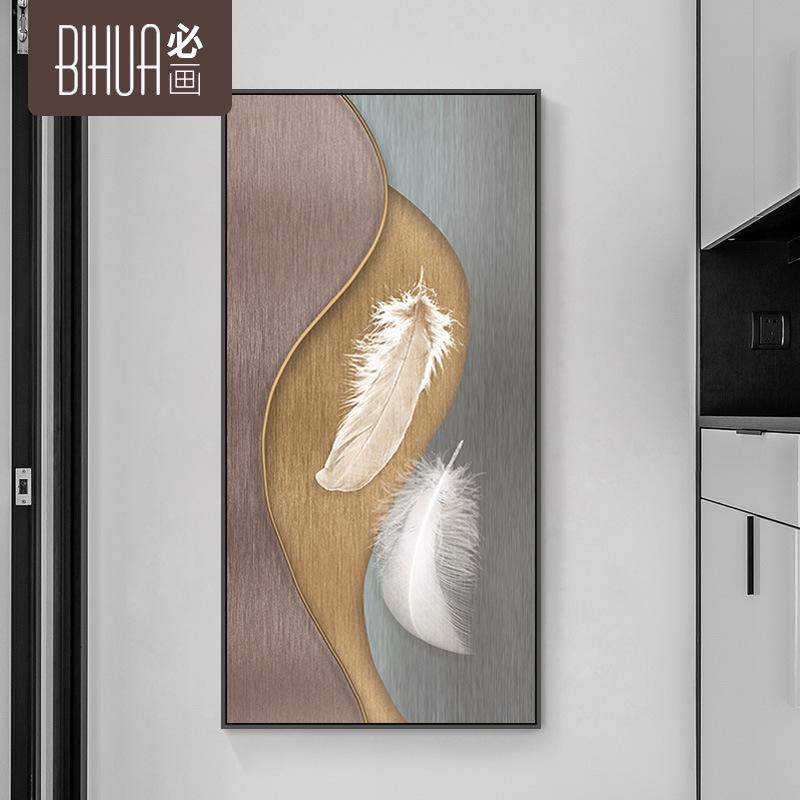 BIHUA Tranh trang trí Mái hiên tối giản hiện đại sơn trang trí Bắc Âu ánh sáng sang trọng không khí