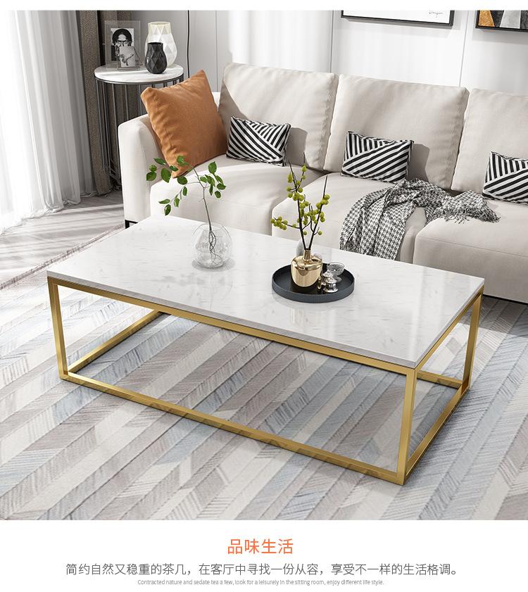 MYTY Bàn trà Thời trang Bắc Âu ánh sáng sang trọng căn hộ nhỏ bằng đá cẩm thạch kết hợp bàn cà phê s