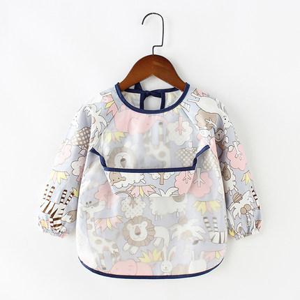 Áo khoác  Quần yếm trẻ em không thấm nước dài tay chống mặc quần áo trẻ em ăn tạp dề cotton trẻ em q