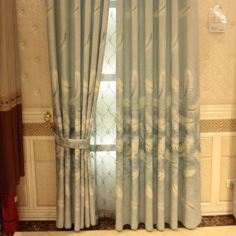YINGGEMAN rèm cửa sổ Nhà máy Direct Cotton mới Rèm vải Vải Dòng ấm Phòng ngủ Phòng khách Rèm cửa màn