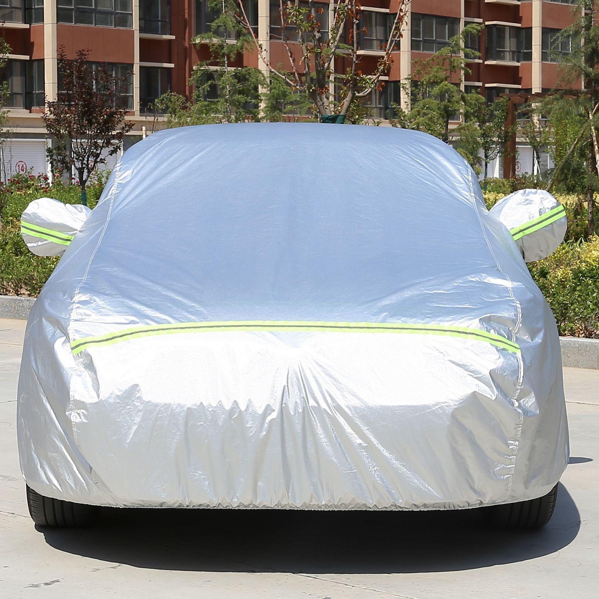 Áo trùm xe hơi Nhà máy trực tiếp bông len đệm xe quần áo che nắng xe
