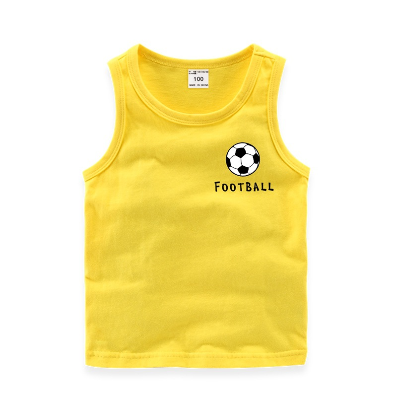 MICHUN Áo ba lỗ / Áo hai dây trẻ em Quần áo trẻ em Mi Chun mùa hè mới tinh khiết thể thao cotton in
