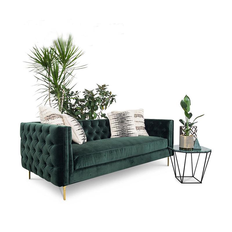 SHENCHUN Ghế Sofa Vải Scandinavia đôi sofa ba chỗ Mỹ đơn giản hiện đại căn hộ nhỏ phòng khách màu xa