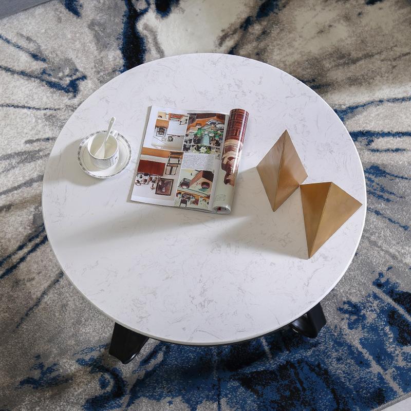 ZHENHAO Bàn trà sắt Bắc Âu hiện đại sang trọng nhỏ bàn cà phê nhỏ nội thất phòng khách đơn giản phòn