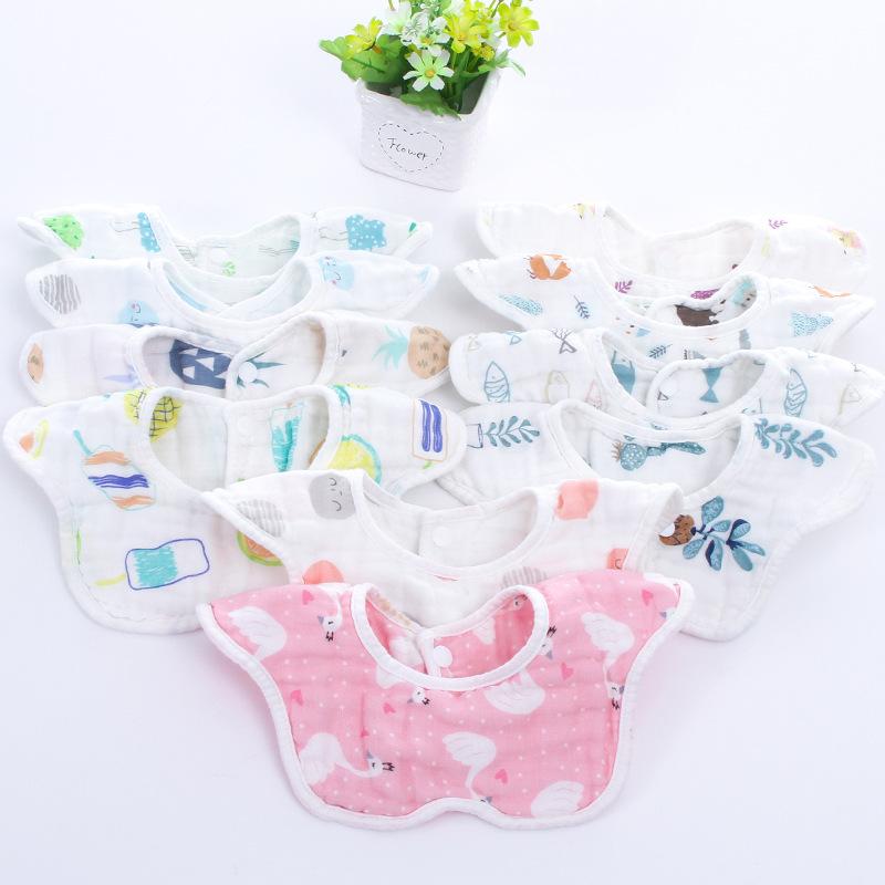 RUIBAOCONG Khăn yếm Yếm sáu cánh yếm xoay 360 độ cotton cotton nước bọt em bé rửa gạc yếm