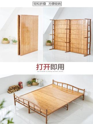 Ván gỗ  Giường tre Tấm gấp đôi Đơn giản đơn giản 1,5 mét Cho thuê Giường ăn trưa 1 Hộ gia đình Tre T