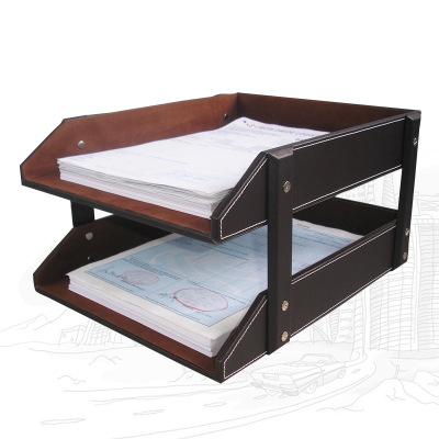 Kệ hồ sơ Vật tư văn phòng doanh nghiệp để bàn hai lớp .