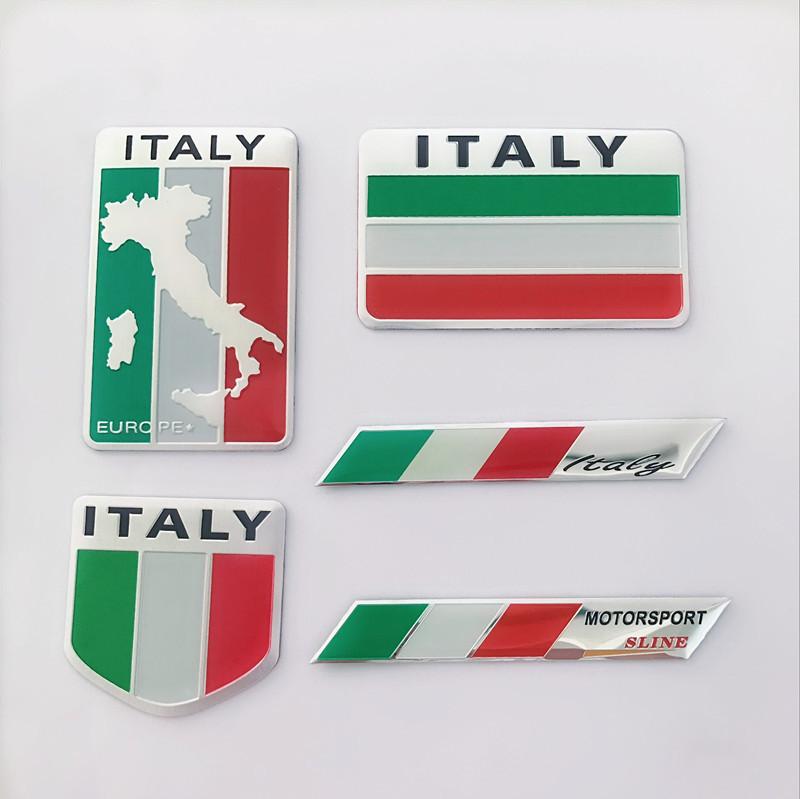 Đề can xe hơi Ý Đức Vương quốc Anh Hoa Kỳ Pháp cờ sửa đổi biển hiệu xe tên nhãn xe dán nhãn dán cơ t